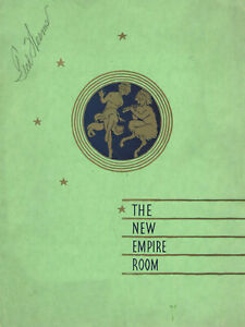 VINTAGE-039-THE-NEW-EMPIRE-ROOM-039-SUPPER-MENU-SIGNED-BY-TED-WEEMS-BANDLEADER