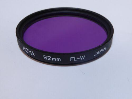 Hoya 52 mm FL-W Filtro Japón limpiado y revisado sin marcar