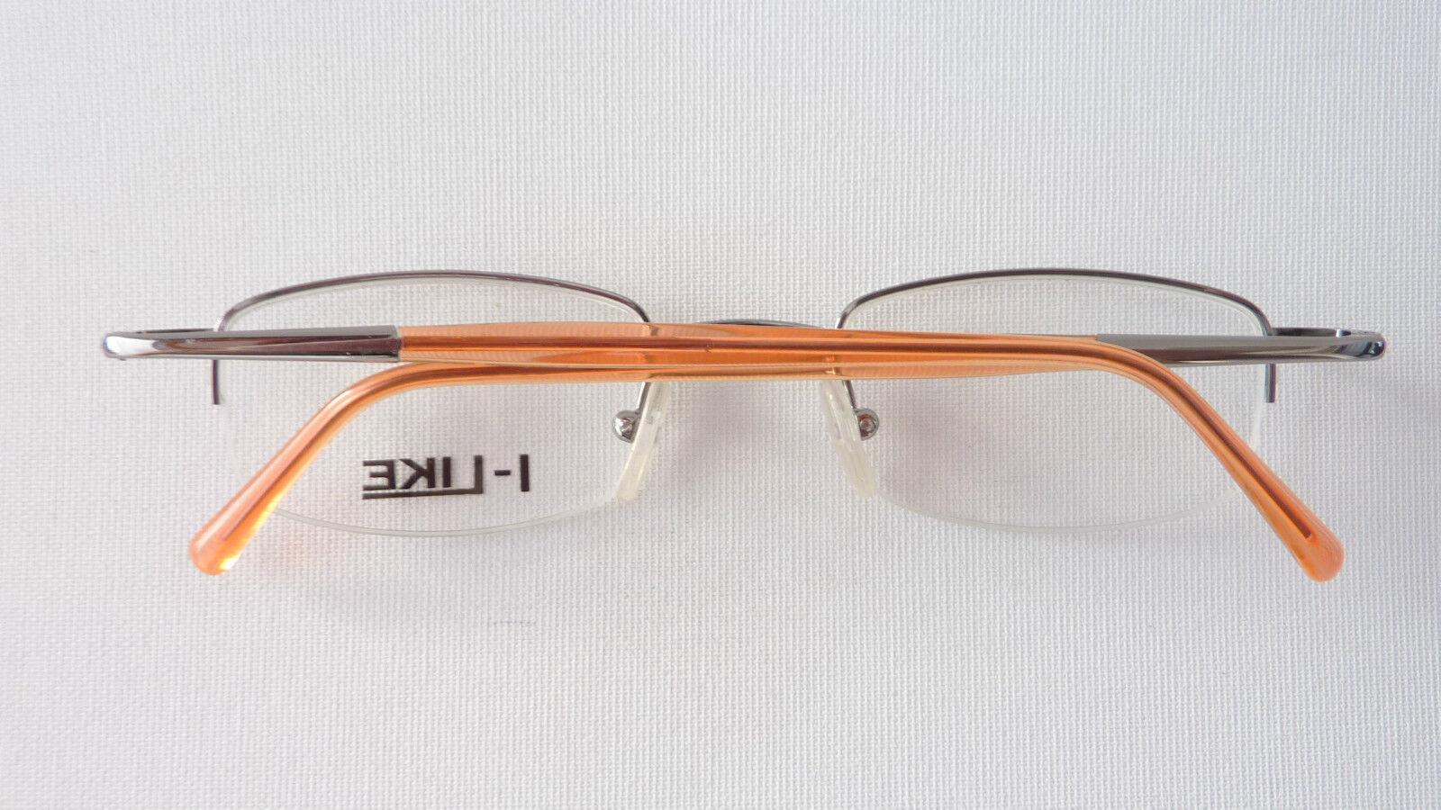 I-Like Metallgestell silber Brillenfassung Brille  Orange nur nur nur Oberrand Grösse L      Mode-Muster  477a2b