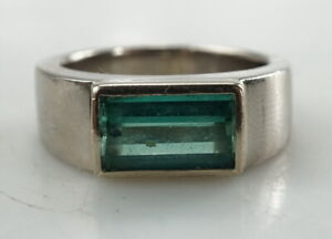 Eleganter-750er-Ring-Gold-mit-Turmalin-Brillant-18-Karat-20-77g-Gr-65
