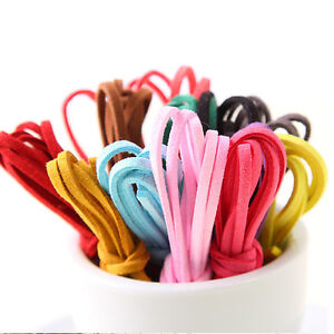Thong 3mm x1.5mm -Various Colours and Lengths String Faux Suede Cord 3C