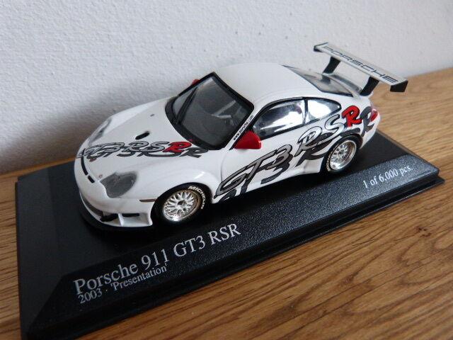 PORSCHE 911 996 GT3 RSR 2003 PRESENTAZIONE MINICHAMPS modello auto 1:43