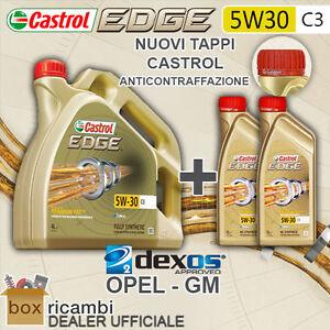 OLIO MOTORE CASTROL EDGE C3 5W30 LITRI 6 (LT. 6) OPEL GM DEXOS2