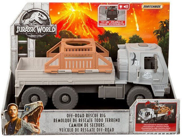 Jurassic World 2 OFF ROAD RESCUE RIG TRANSPORTER VEHICLE FALLEN KINGDOM FNF42