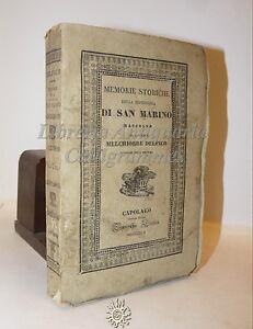 Melchiorre-Delfico-MEMORIE-HISTORIA-DE-LA-SAN-MARINO-1842-Capolago-Punta-Suiza