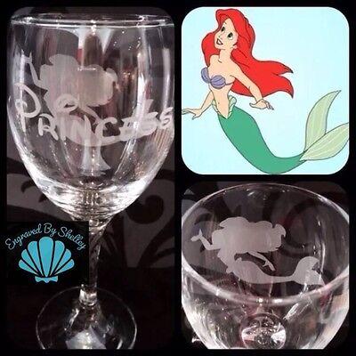 Personalised Disney Sebastian Crab Wine Glass The Little Mermaid Handmade Gift