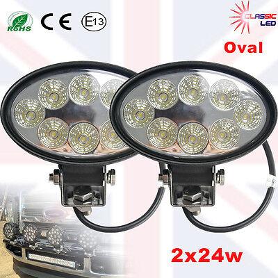 8PCS 27W LED Work Driving Light Bar Cree COMBO beam Lamp Reverse Offroad 4x4