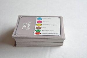 Details about Trivial Pursuit the 1980's edition 100 random question trivia  cards