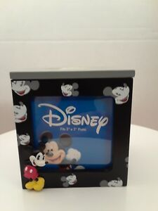 Disney-3-034-x-3-034-Photo-Picture-Cube-Mickey-Mouse-Disney-Home-Trinket-Box-Frame