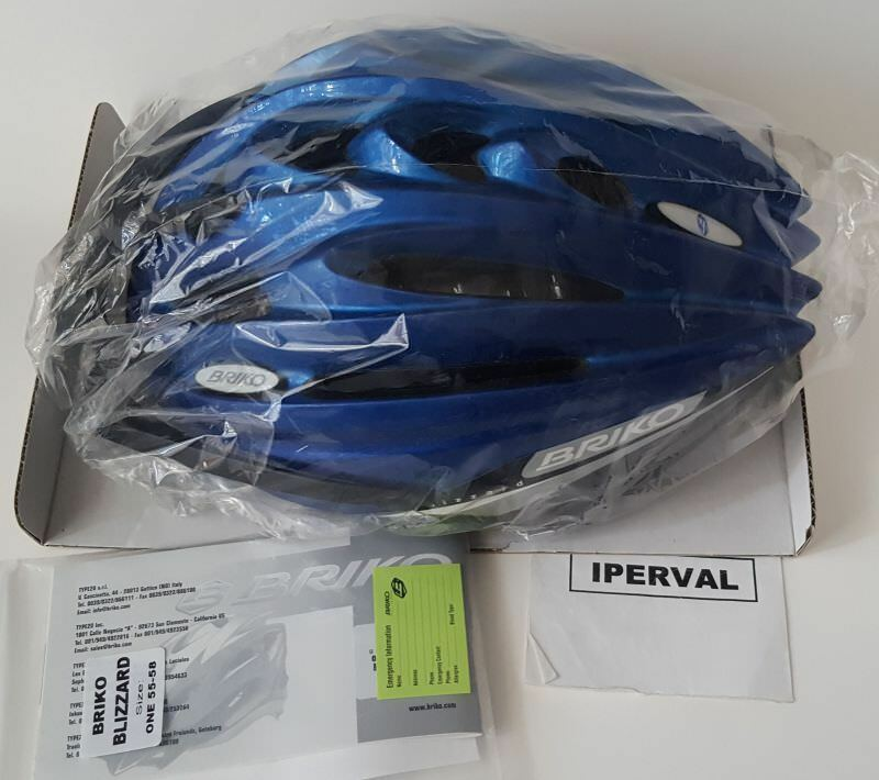 Casco Bici Briko Blizzard Mtb Bicicletta Mountain Bike Helmet NUOVO TG 55-58 NEW