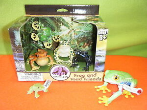 NATURE-039-S-WONDERS-FROG-amp-TOAD-FRIENDS-92038-PLUS-SCHLEICH-FROGS-14407-amp-14760