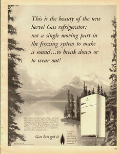 1951-Vintage-ad-for-Servel-Gas-Refrigerator-Snow-Capped-Mountains-Lake-082113