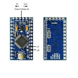 Pro Mini Enhancement 3.3V or 5V adjustable 16MHz MEGA328P (Arduino-compatible)