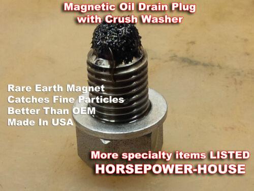 12mm MAGNETIC OIL DRAIN PLUG @ KAWASAKI VULCAN 500 750 800 900 1500 2000 ALL