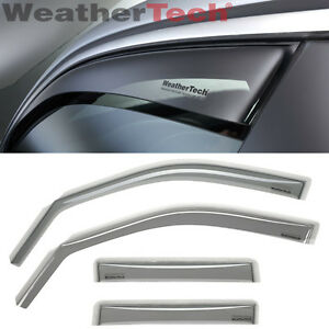 WeatherTech Side Window Deflectors for Nissan Versa Note - 2014-2016 Light Tint