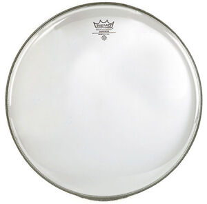 "Magasiner Pour Pas Cher Remo Emperor 14"" Transparent Tom Caisse Claire Synthetique-afficher Le Titre D'origine"