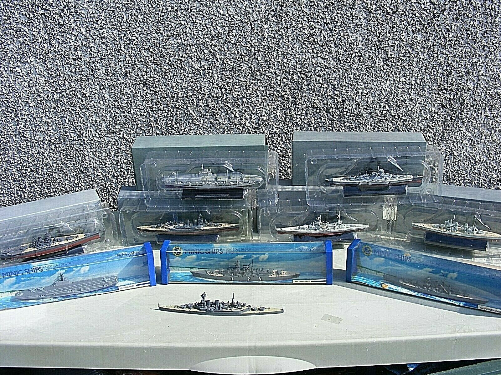 COLLECTION OF ATLAS AND HORNBY MINIC WARSHIPS BOXED