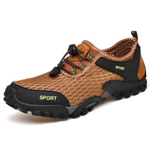Men/'s Outdoor Hiking Shoes Mesh Breathable Slip on Soft Wade Flats Non-slip Chic