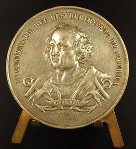 Medal-Exhibition-Chicago-1893-Venezuela-Cristobal-Colon-Christop-Columbus-Medal