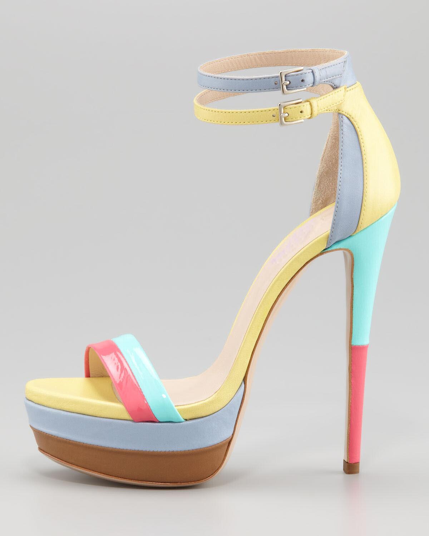 UK Women Platform Sandals Open Toe Stiletto High Heels Heels Heels Strap shoes Plus Size 2-9 2804ba