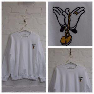 Sudadera y hip cuello X Hecho redondo Chain Wu camiseta real de blanca Mickey con hop CwqXHTq