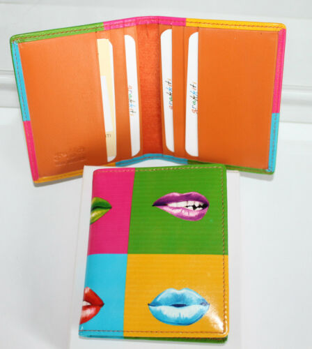 Hot Lips Graffitti Leather Credit Card Holder by Golunski
