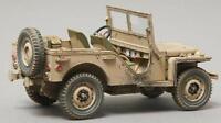 Thomas Gunn Ww2 British Gb006 Bantam Jeep Desert Version With Sten Gun & Can