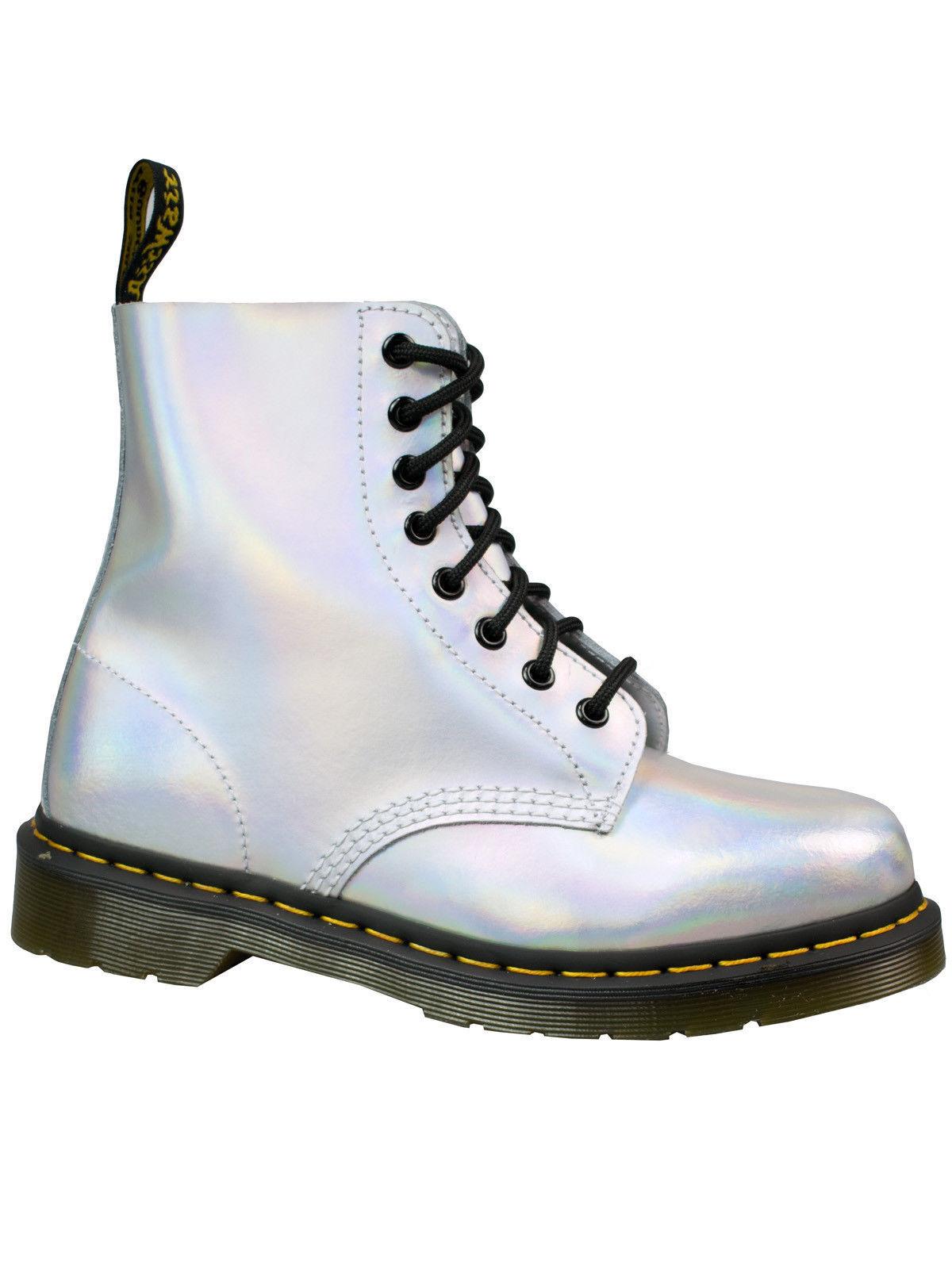 Dr. Martens 8-loch Metallic Stiefel Pascal Leder Silver Lazer Metallic 8-loch 23551073 #5136 f7dc0a