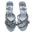 miniatura 14 - Señoras para mujer Sandalias De Boda Nupcial Diamante Gatito Tacón Fiesta Mocasines Reino Unido