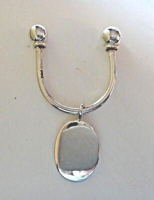 Sterling Silver 3 cm diameter 5g Split Ring Keyring great gift for Men or Women
