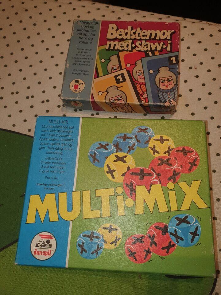 Multi mix og bedstemor med slaw i, Terningespil og