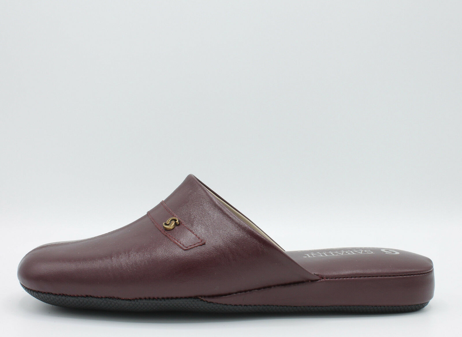 SABATINI SLIPPERS SMOKING MAN, LEATHER BURGUNDY LEATHER SOLE RUBBER, SAB368