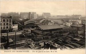 CPA AK PARIS 19e SOCIETE DES CHARBONNIERS Port du Quai de Loire 46 48 (537868)