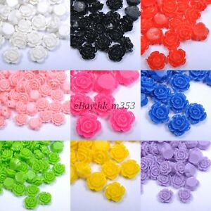 20pcs-Gorgeous-Rose-Flower-Coral-Spacer-Beads-Color-Choose-10MM-12MM