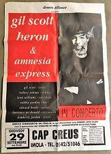 MANIFESTO,POSTER GIL SCOTT HERON & amnesia express CAP CREUS IMOLA CONCERTO,JAZZ