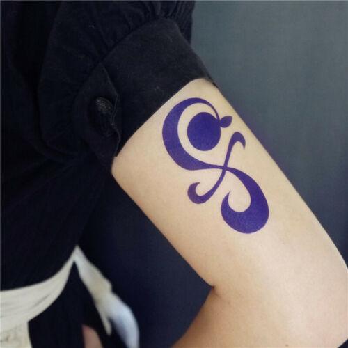One Piece Nami Tattoo Sticker Tangerine Pinwheel Cross Cosplay Anime Prop