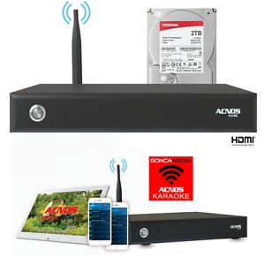 ACNOS KM-8 (WIFI / APP) 43K VIETNAMESE SONGS KARAOKE HDD SYSTEM + REMOTE