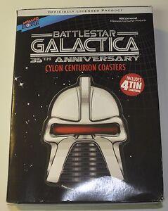 Battlestar Galactica Cylon Tin Coaster Set 4