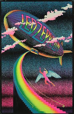 Vintage Led Zeppelin Poster Home Decor Canvas Print, choose your size.