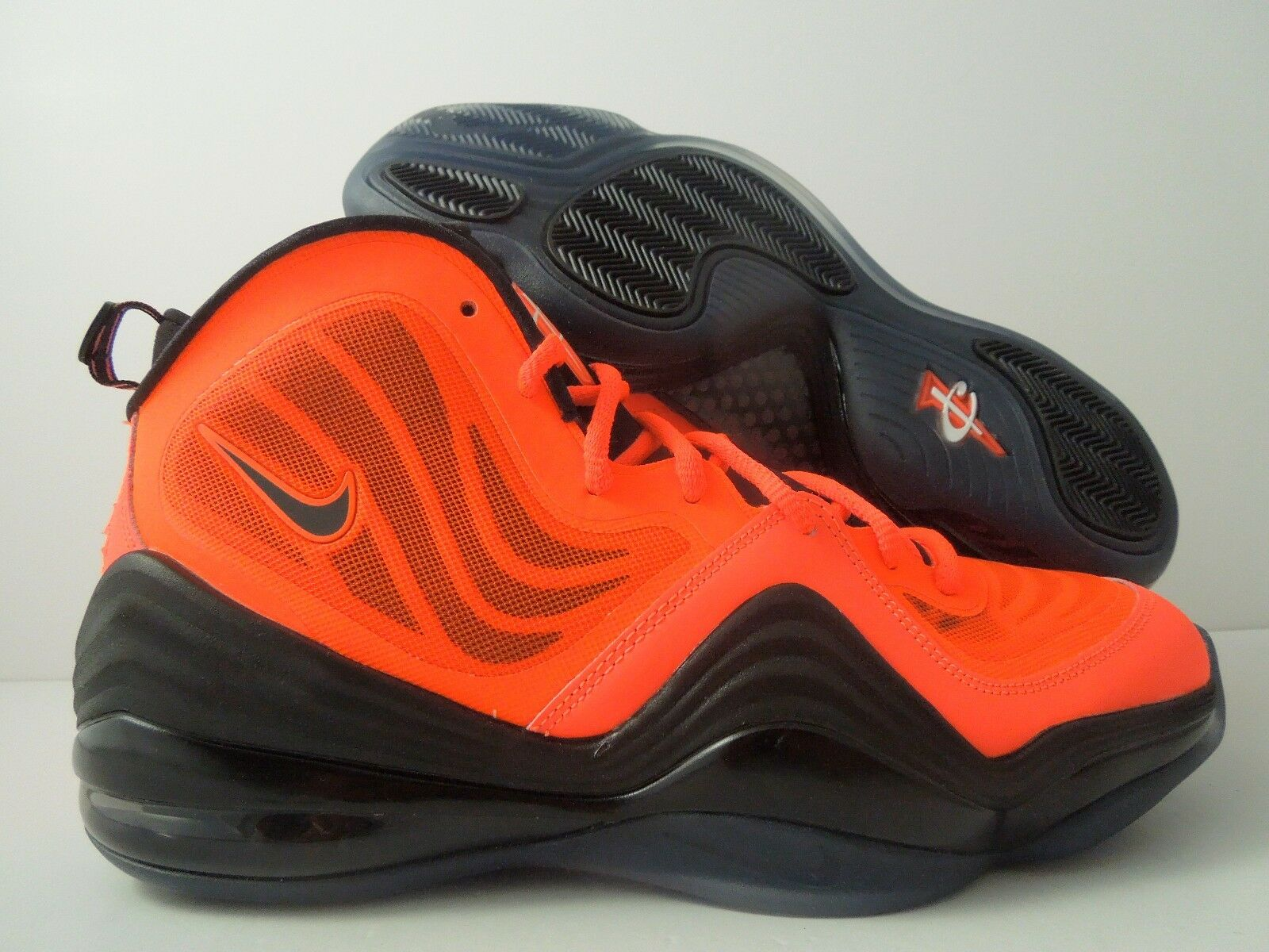 NIKE AIR PENNY V TOTAL CRIMSON ORANGE-BLACK SZ 12 [537331-800]
