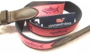 vineyard-vines-Tarpon-Pattern-Canvas-Club-Belt-NWT-size-40-Msrp-58-Free-Ship