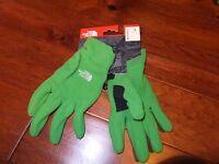 $35 The North Face Mens L Large Polartec Fleece Saranac Gloves Flashlight Green