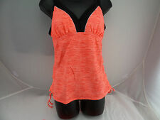Gerry Tankini Skort 2 Piece Swimsuit Set Neon Sherbet US Size M NWT