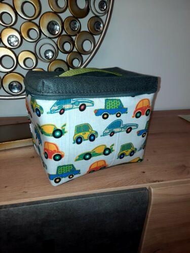 Tasche für Musikbox z.B Toniebox oder Tigerbox bunte Autos
