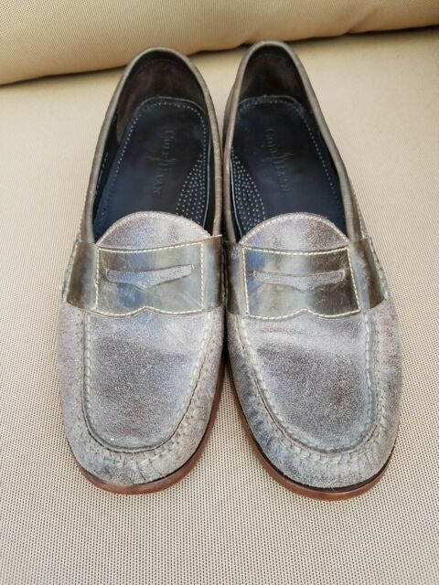 df8fed338ef COLE HAAN Men s Gray Suede Pinch Penny Loafers Slip-On Size 10D MSRP  149