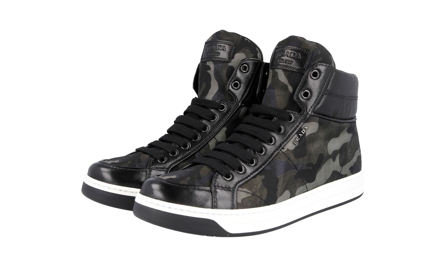 AUTH LUXURY PRADA SNEAKERS SHOES 3T5770 CAMOUFLAGE NEW 41 41,5 UK 8