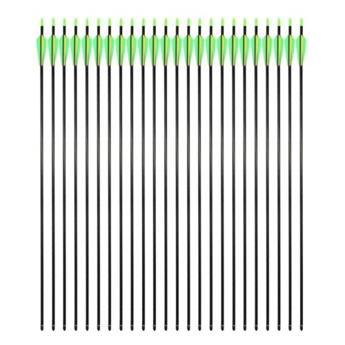 Archery 32/'/' Carbon Arrows Target Practice Hunting For Compound /& Recurve Bow US