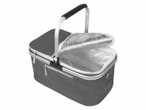 24 Liter Fassungsvermögen TOPMOVE® Einkaufskorb mit Innenfolie stabiler Alu.