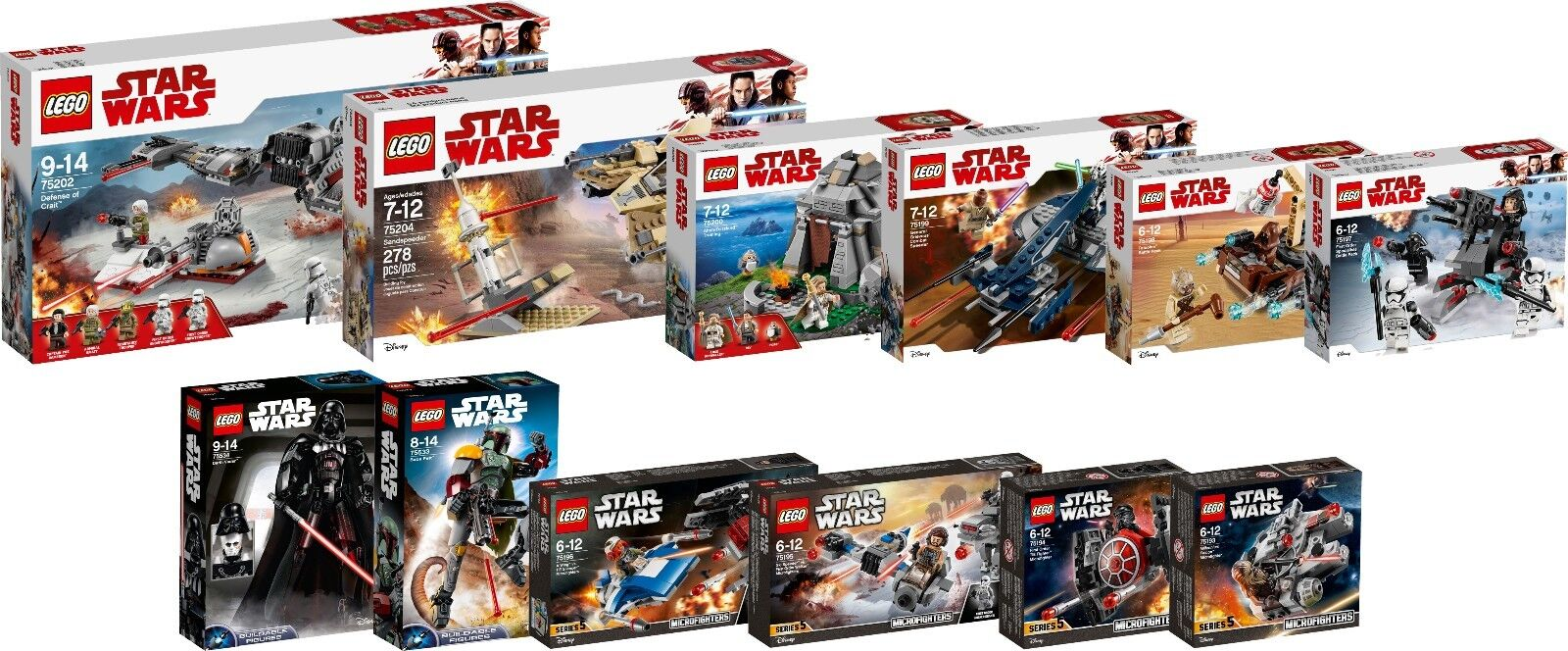 LEGO STAR WARS NEW 2018 2018 2018 Collection 75202 75200 75204 75533 75534 12 Set N1 18 490046