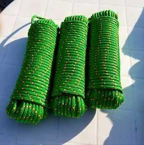 Bootsseil, Tauwerk, Seil, Fender, Bootsleine, Festmacher, grün, 8 mm, 30 Meter